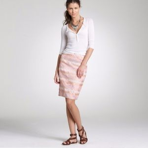 J Crew Turkish Delight Pencil Skirt sz 6